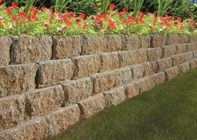 retaining wall flower bed